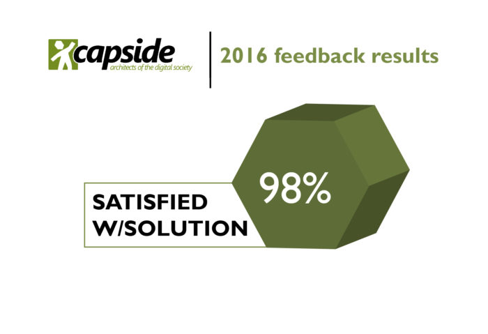 2016 Feedback Results - CAPSiDE, architects of the digital society