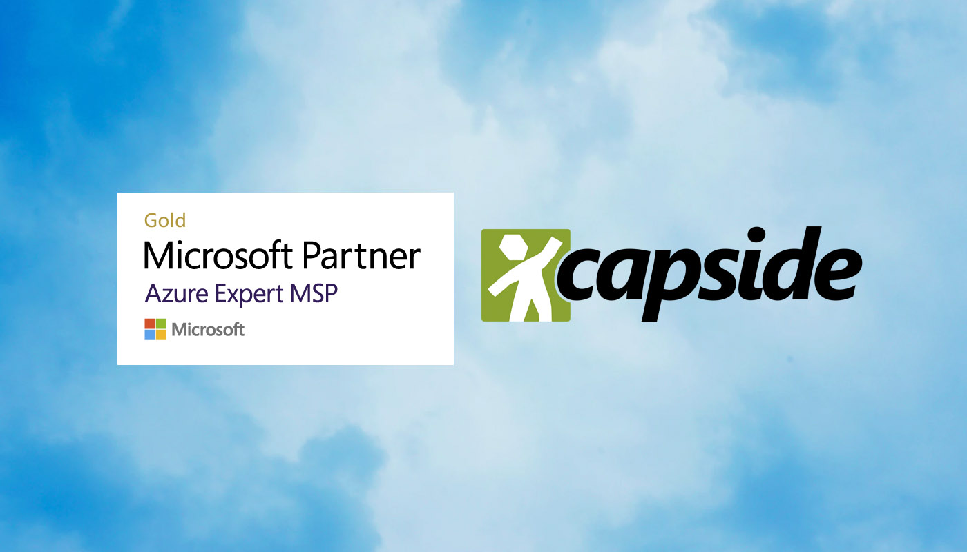 CAPSiDE recognised as Microsoft Azure Expert Managed Service Provider